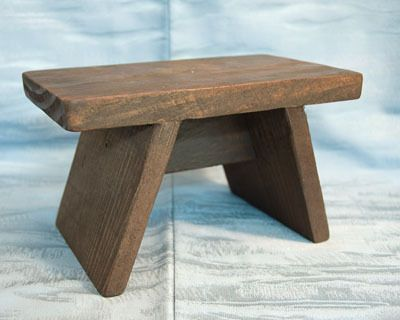 Small Japanese Bath Stool – Old Fashioned Furo Wooden Bench | Bath ...