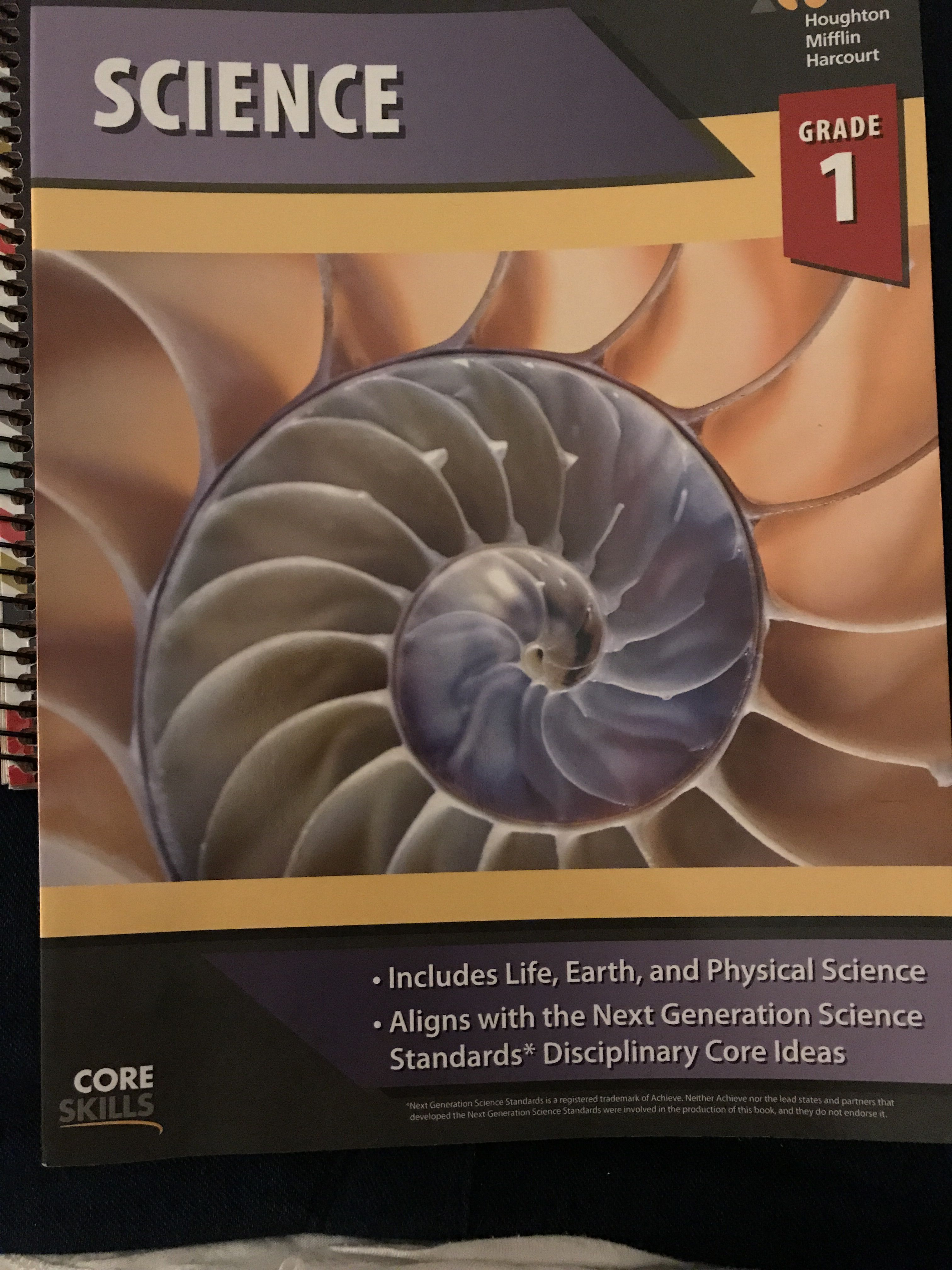 The Science Workbook We Will Be Using