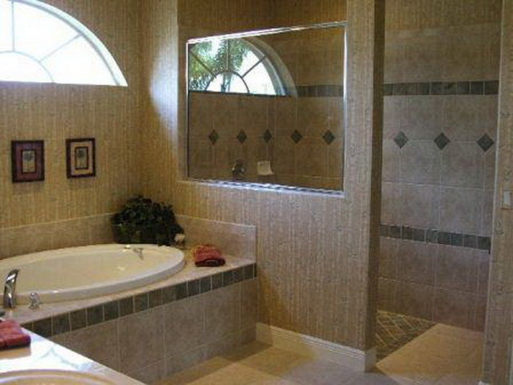Bathrooms vary from house to house and can feature bathtubs, bath ...