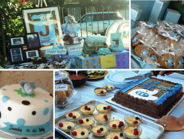 baby boy elephant baby shower theme ideas