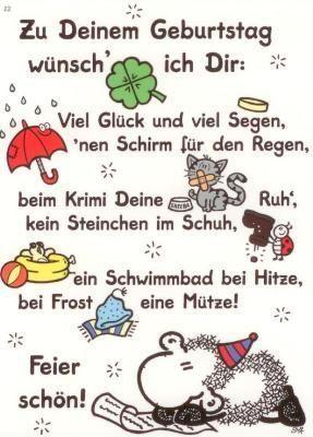Geburtstagsgedichte Spruche Und Gedichte Zum Geburtstag