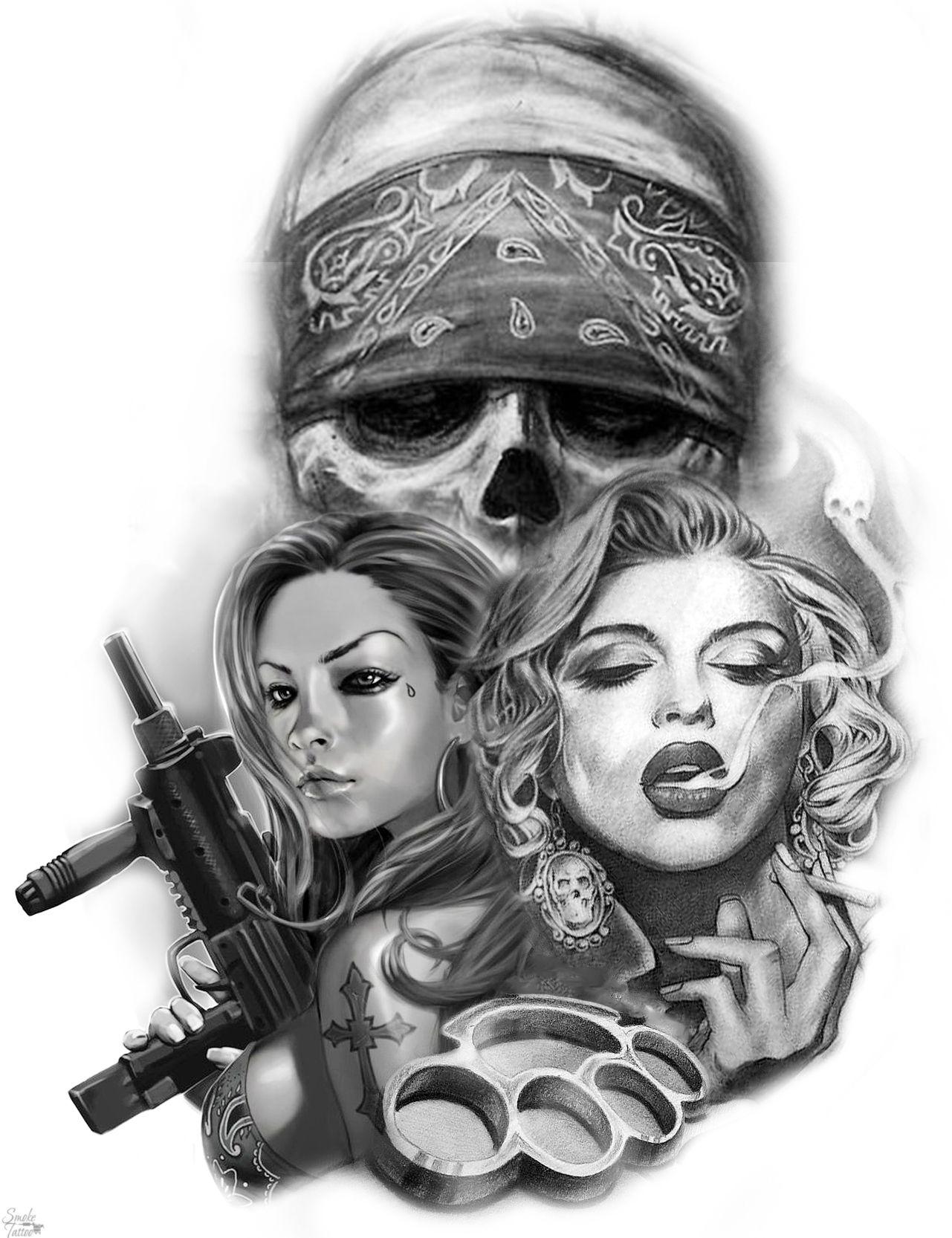 Serie Frau Tattoo