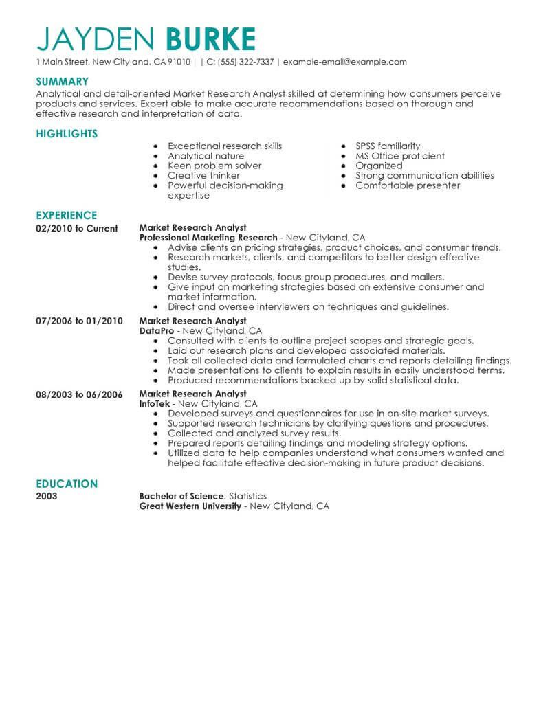 Best Market Researcher Resume Example Teaching Resume Examples