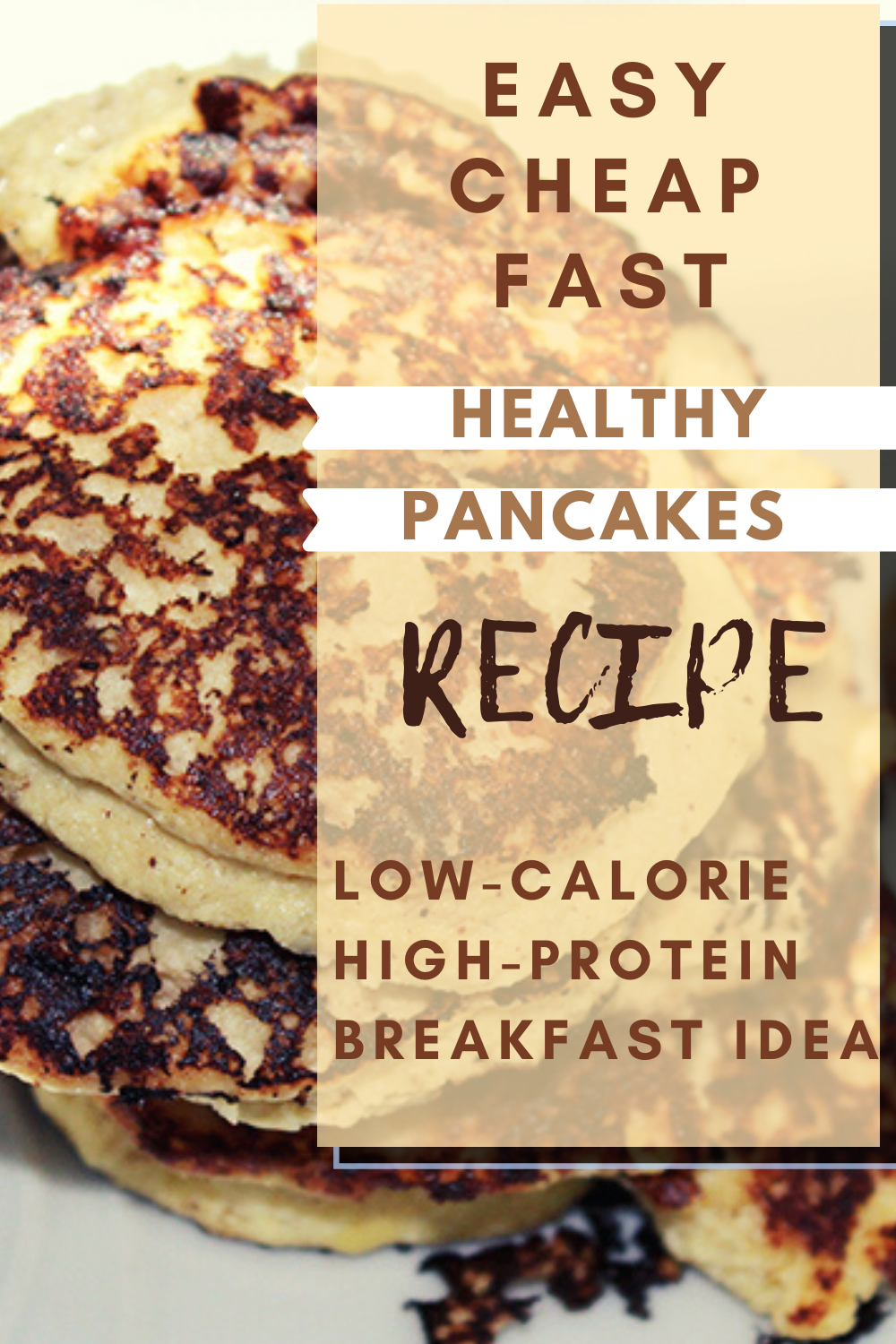 This is the best easy high-protein breakfast recipe! Prepare these delicious healthy low-calorie pancakes and enjoy them with your family or friends! #easyhighproteinbreakfast #highproteinmeals #healthypancakes #lowcaloriemeals