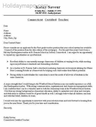 Sample Kindergarten Teacher Resume Adorable Cool Sample Cover Letter  Holidaymapq  Pinterest  Rivers And City