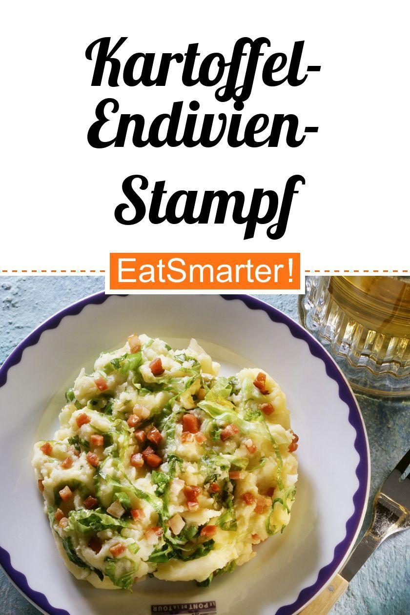 Kartoffel-Endivien-Stampf mit Speck