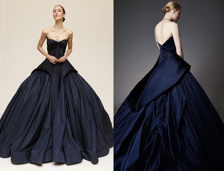 Gorgeous Blue Gown Zac Posen Resort 2015 Evening Dresses Gowns Black Evening Dresses