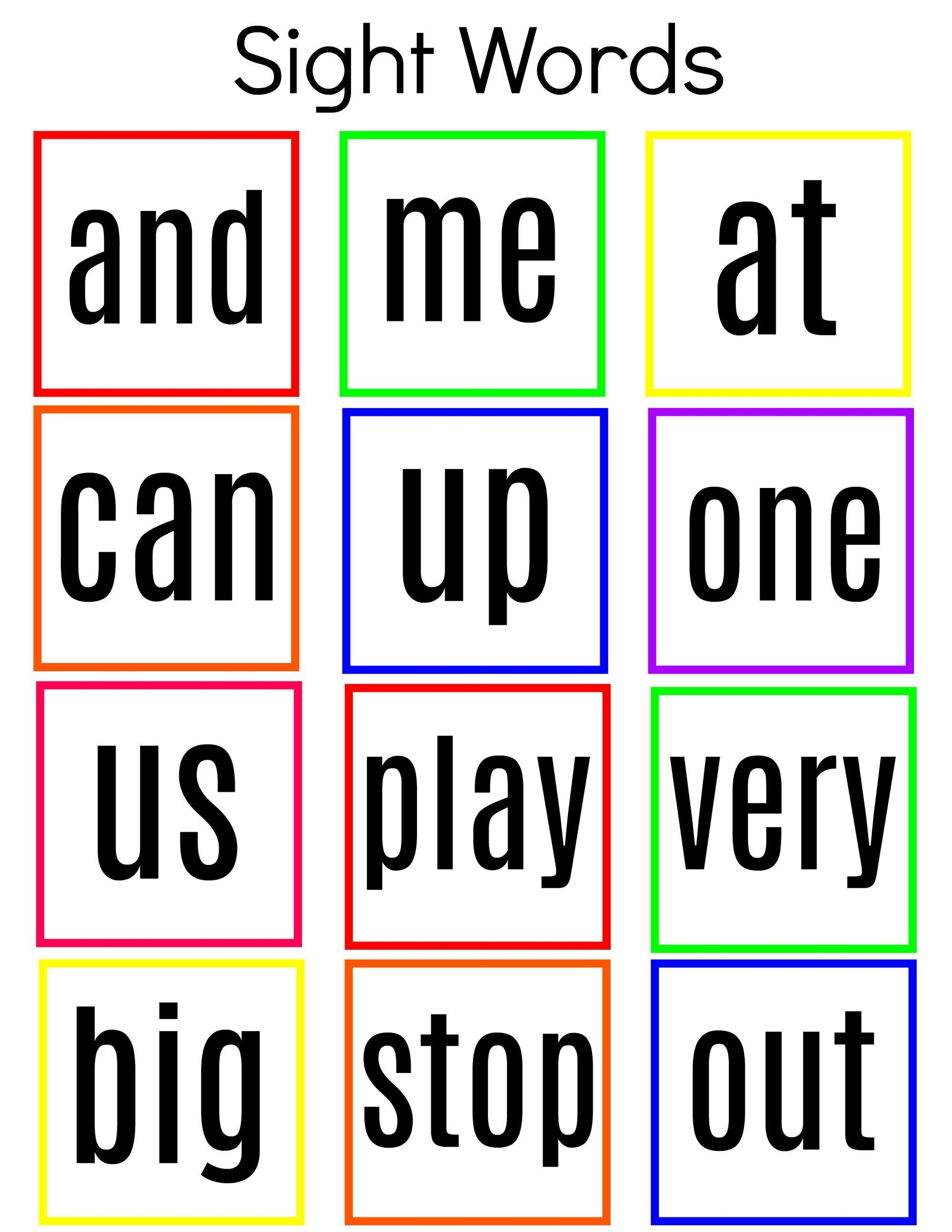 Common Sight Words Printable Kindergarten To Grade One Craft Writing Sight Words Spelling Bee Words Kindergarten Worksheets Sight Words [ 2588 x 2000 Pixel ]