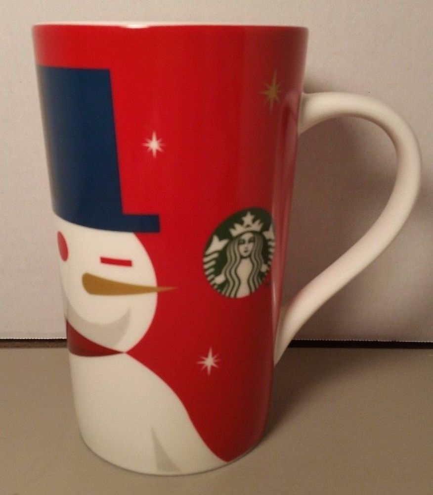 Starbucks Mug 2012 Snowman Holiday Christmas Tall Latte