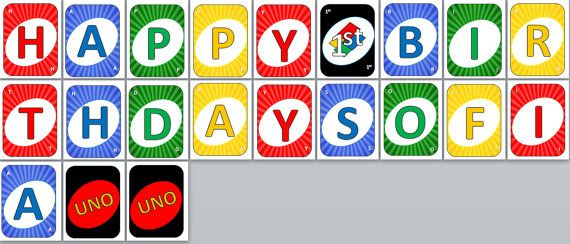 Printable Uno Card Cards Personalized Happy Birthday Party Banner Name Age On Etsy 7 99 Cards Personal Cards Uno Card Game
