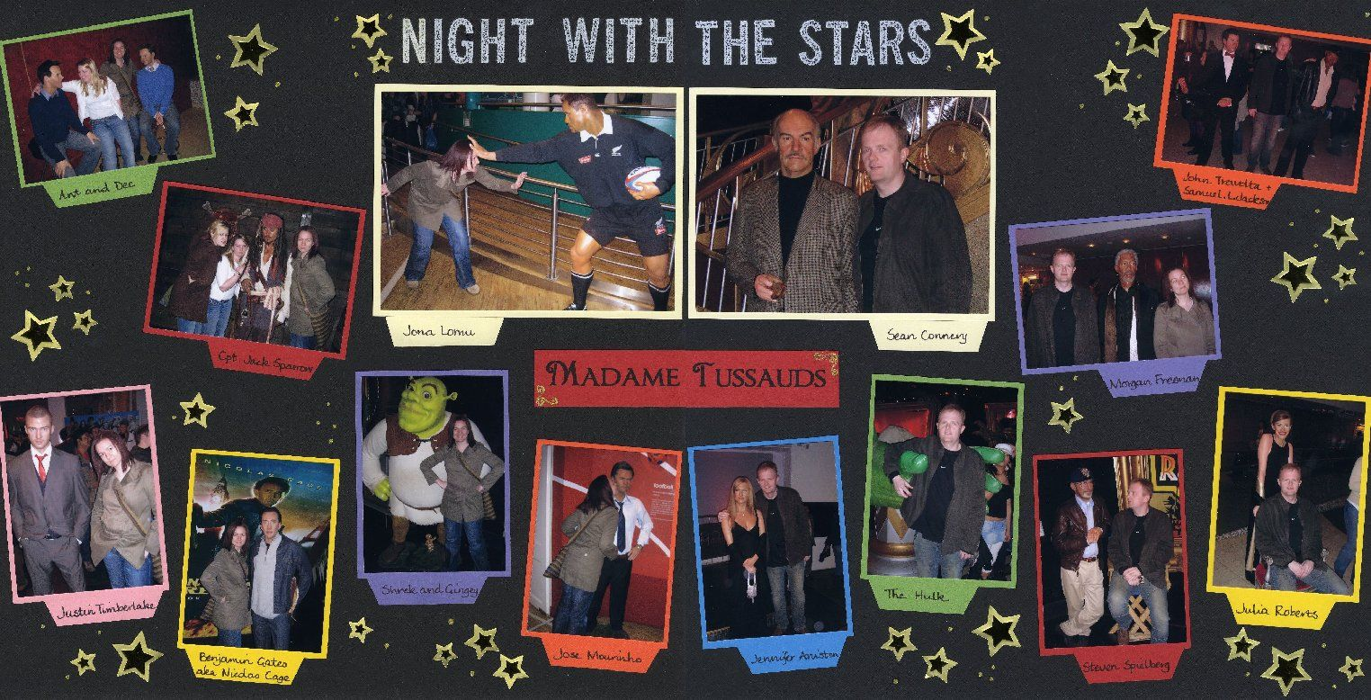 How to scrapbook good - Night With The Stars Scrapbook Com Would Be Good For Wax Museum Pics