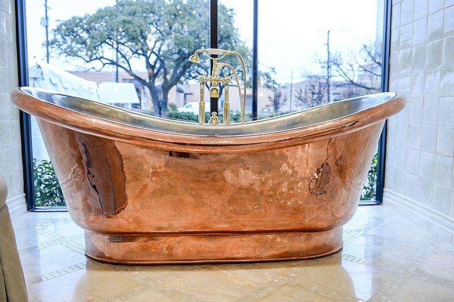 Clothilde tub in the dallas showroom dallas showroom - Bathroom design showroom dallas tx ...