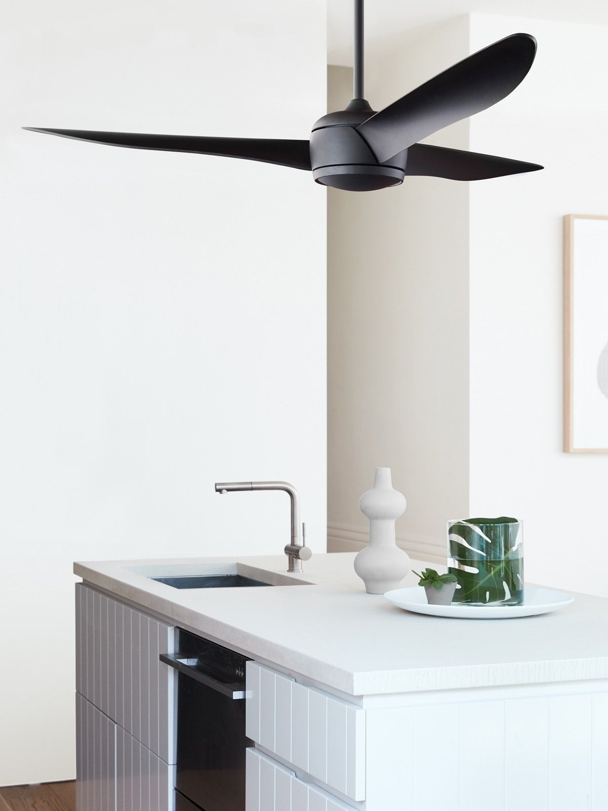 Nordic 142cm Fan Only in Black Ceiling fan with remote