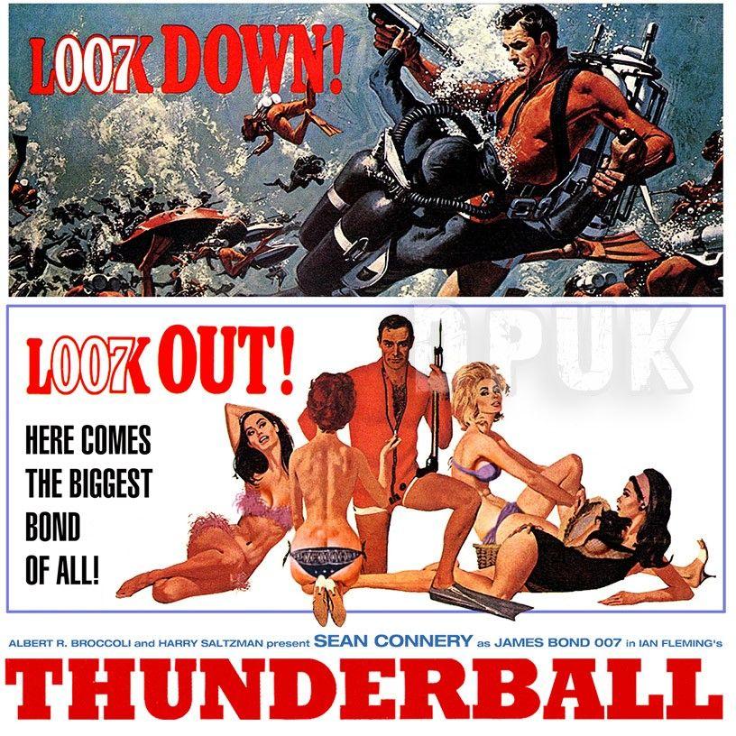 james bond thunderball retro movie poster t shirt this