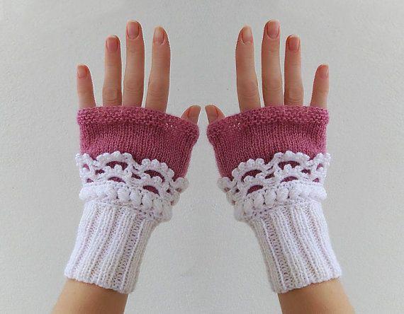 Handstulpen Fingerlose Handschuhe Pink Armstulpen Damenhandschuhe fingerlos