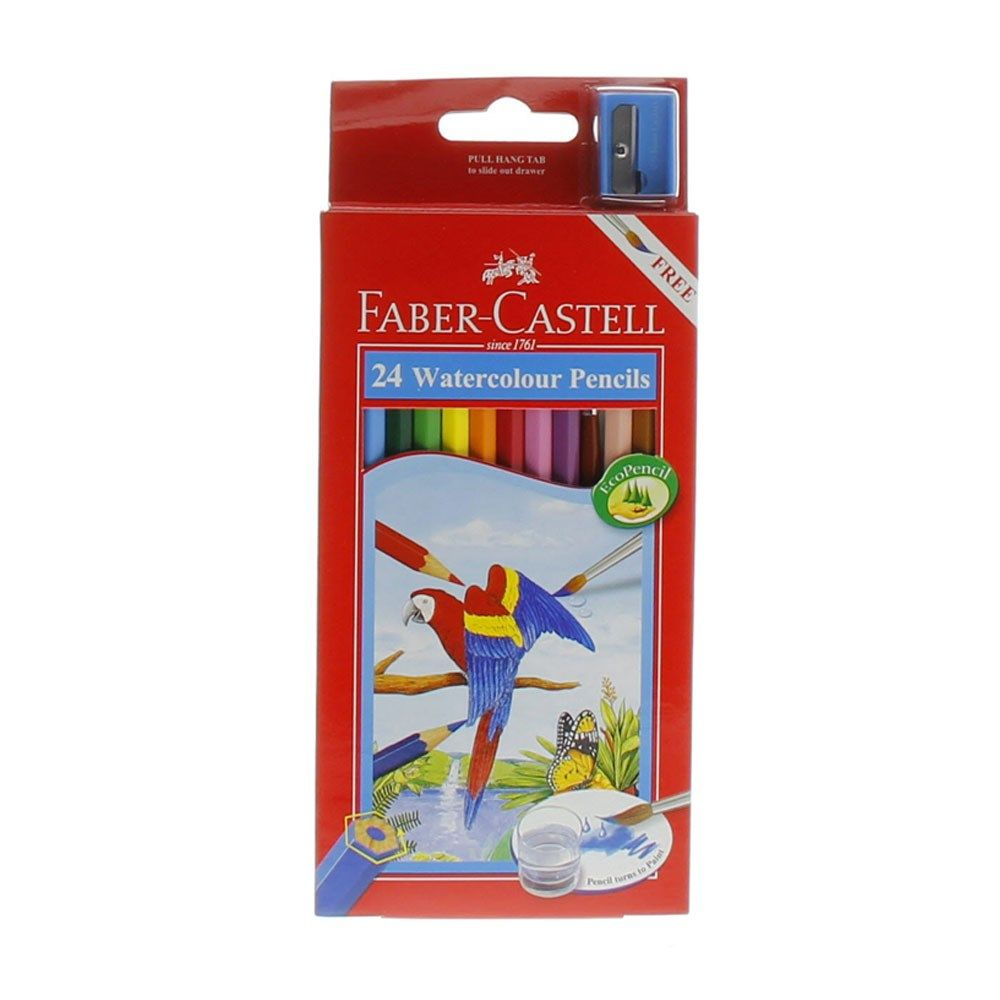 Buy Faber Castell Water Color Pencil 24 Pieces Online In Uae