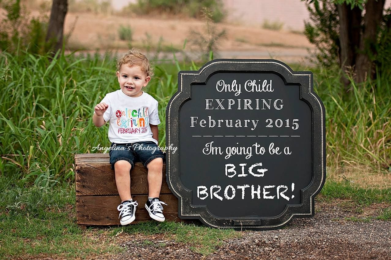 Big Brother Lorenzo- Baby #2 Announcement!! By Angelina's Photography