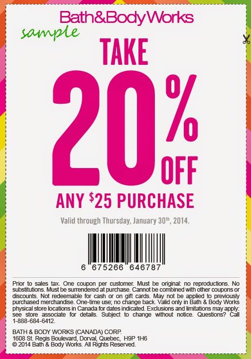 Free Printable Coupons Bath And Body Works Coupons Free