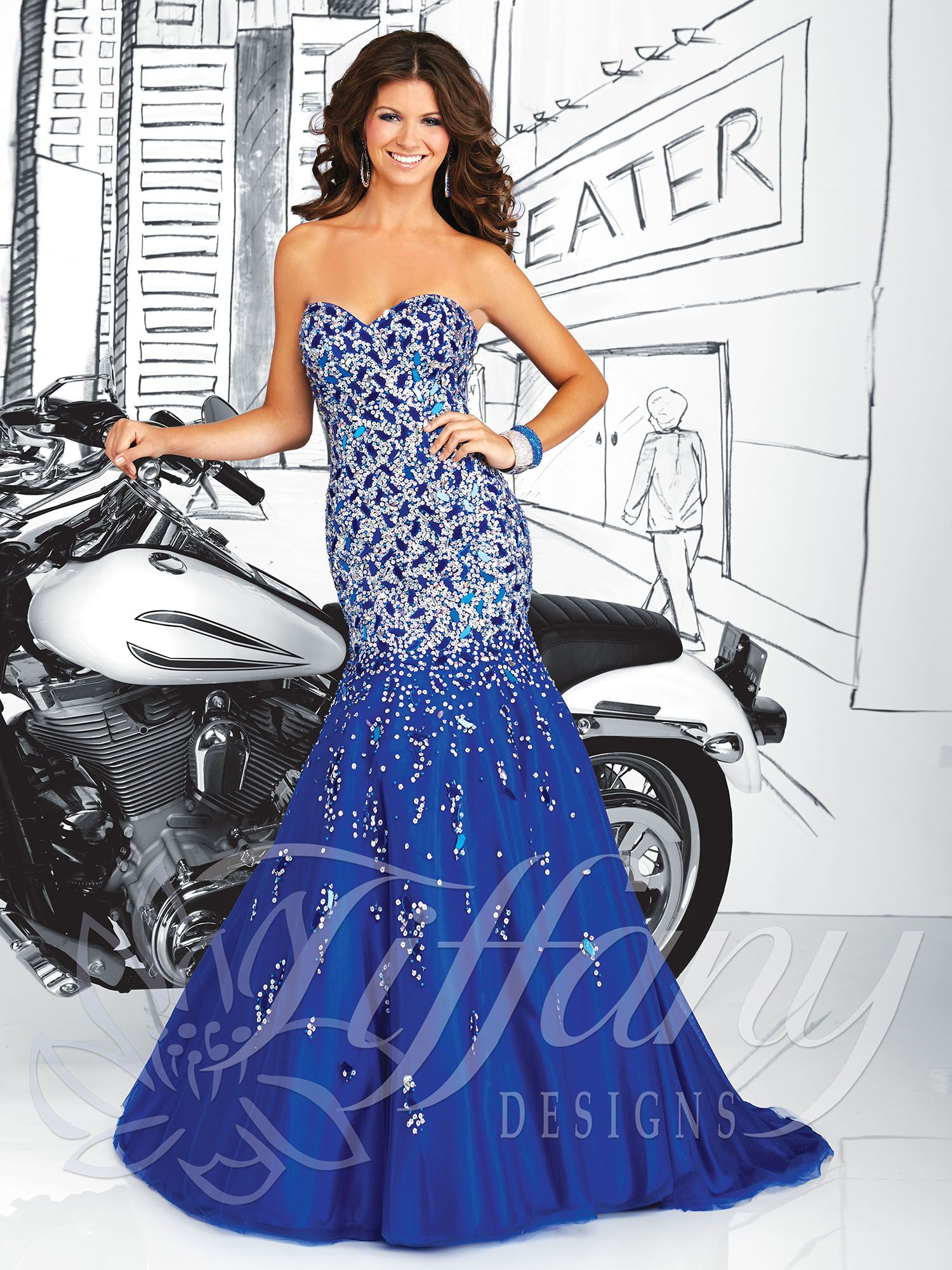 Tiffany Designs 2014 Prom Dress Strapless sweetheart neckline ...
