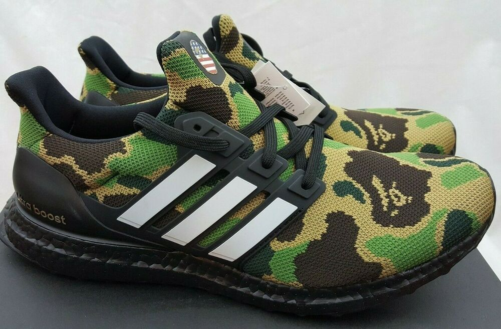 dirt cheap speical offer best cheap Bape x Adidas Ultra Boost 4.0 A Bathing Ape Green Camo Super ...