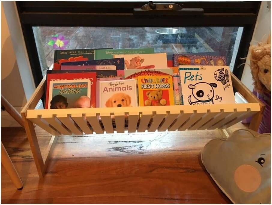 Kmart Hacks Hack A Shoe Rack Into A Book Storage Caddy
