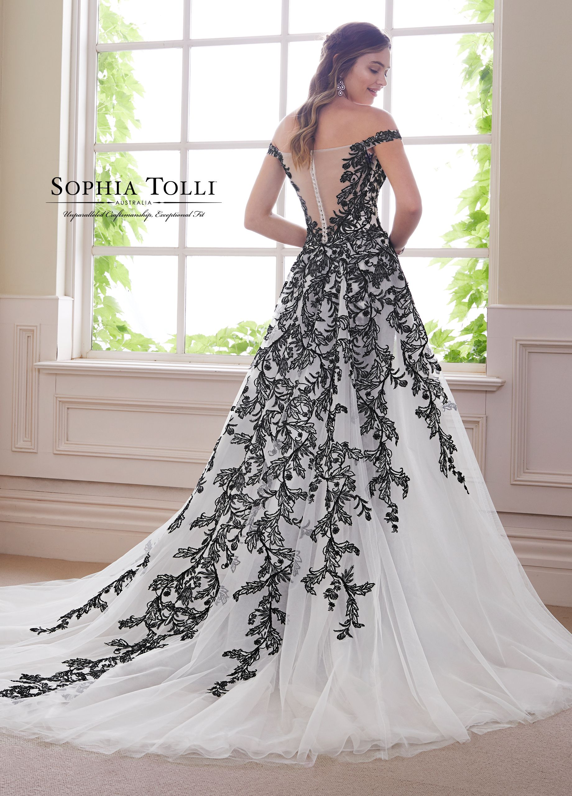 Sophia Tolli Obsidian Black Wedding Gowns Black Wedding Dresses Wedding Dresses Lace