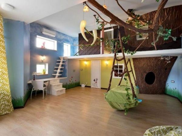 Babyzimmer ideen wandgestaltung dschungel  Kinderzimmer gestalten Dschungel Kindertapete bodenbelag | kids ...
