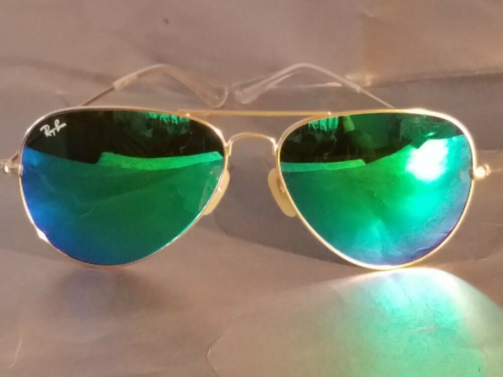 108f4ea645 Ray Ban RB3026 Aviator Unisex Sunglasses 62MM Gold Frame Green Mirror Lens   fashion