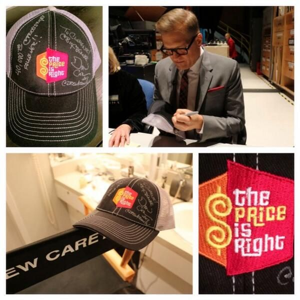 The Price Is Right (PriceIsRight) on Twitter....#DrewCarey signing a hat for our 40,000th follower on Twitter!!