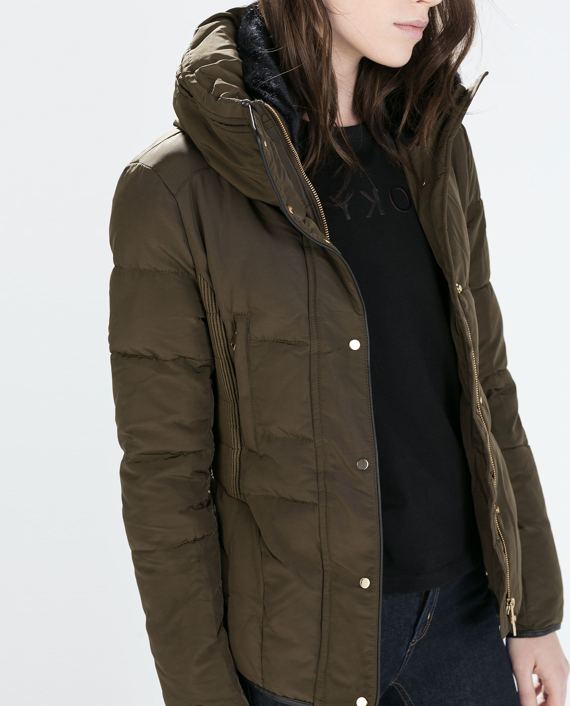 a59b216e Image 4 of SHORT WAISTED DOWN JACKET from Zara | i would wear this ...