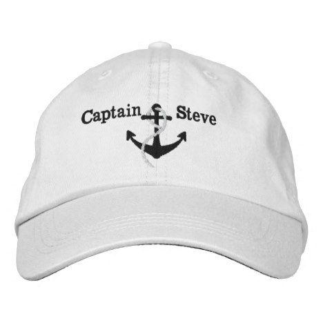 3d0d87f9c21e1 Captain Nautical Name Anchor Sailing Hat  truckershats  baseballcaps   graduationcaps  monogram  quotes  maga