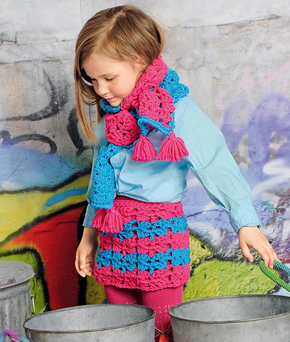 Юбка и шарф для девочки