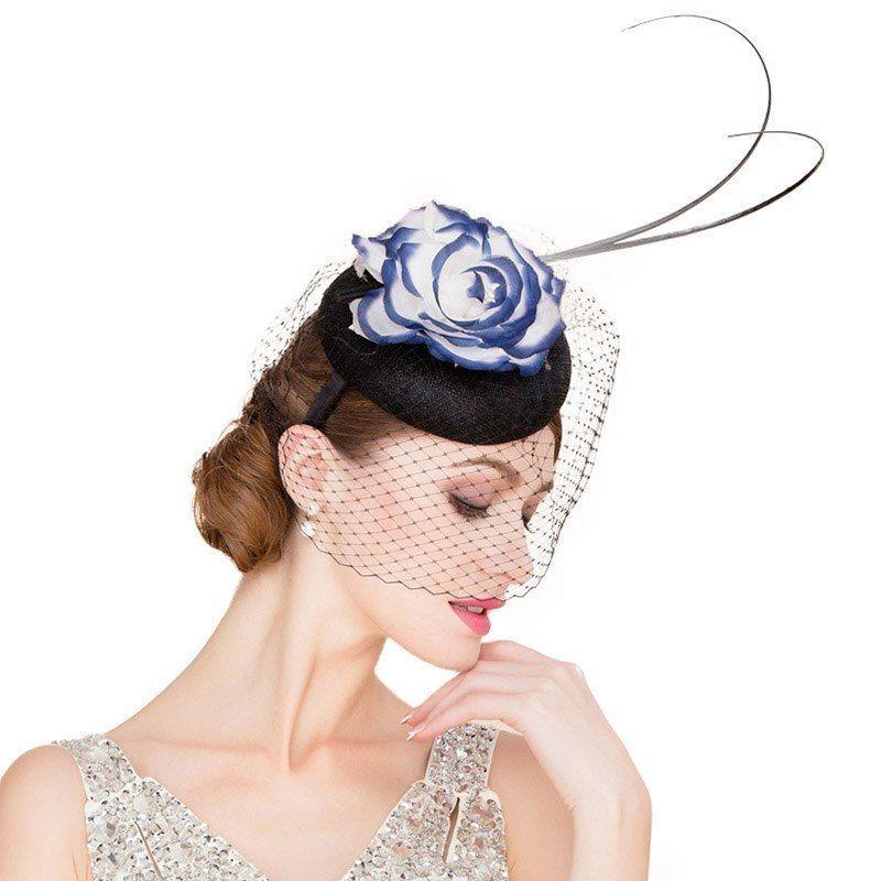 d59300dcb43 Fascinator Veil Headwear Royal Wedding Hat Women Church Cocktail Formal  Pillbox  VFS  Formal