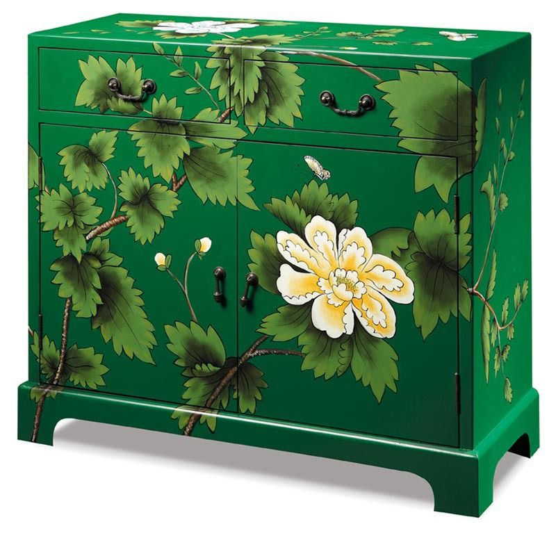 After the Korean garden modern green living room painted personalized shoe sideboard hall kitchen cabinet storage locker