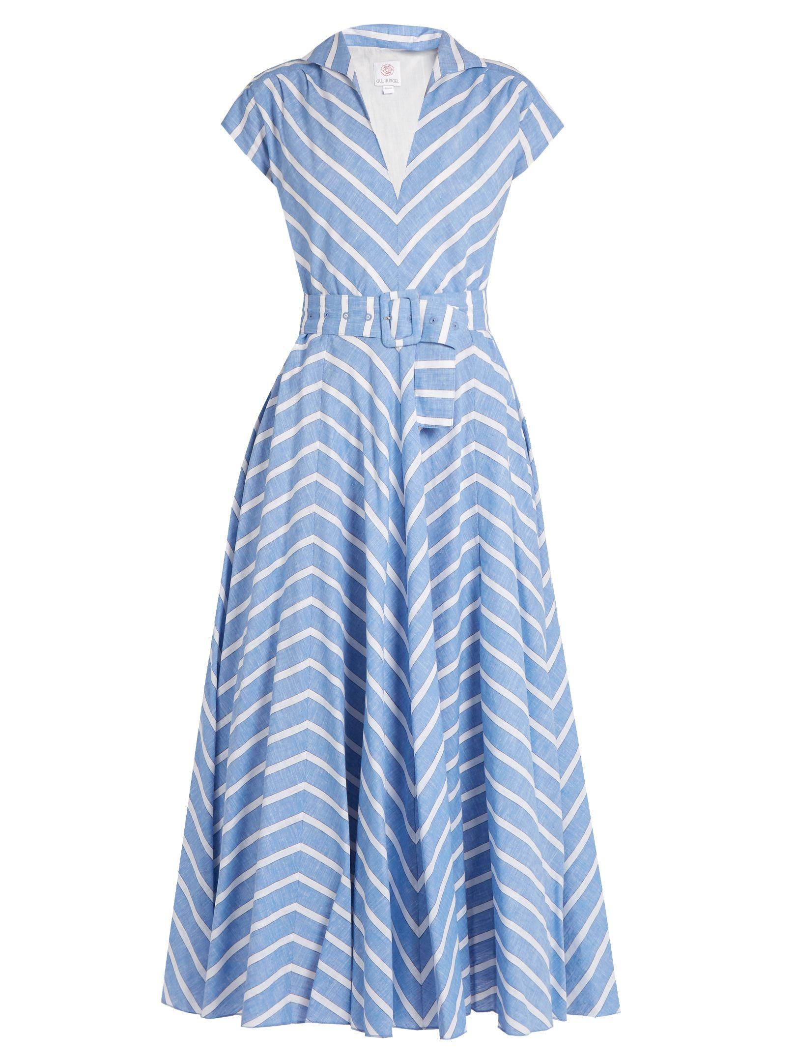 Gül Hürgel Striped cotton and linen-blend dress an homage to the endless  sunshine of