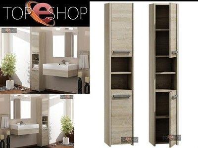Szafka Lazienkowa Regal Slupek 30cm Dab Sonoma 6741195403 Oficjalne Archiwum Allegro Tall Bathroom Storage Tall Bathroom Storage Cabinet Bathroom Storage Cabinet