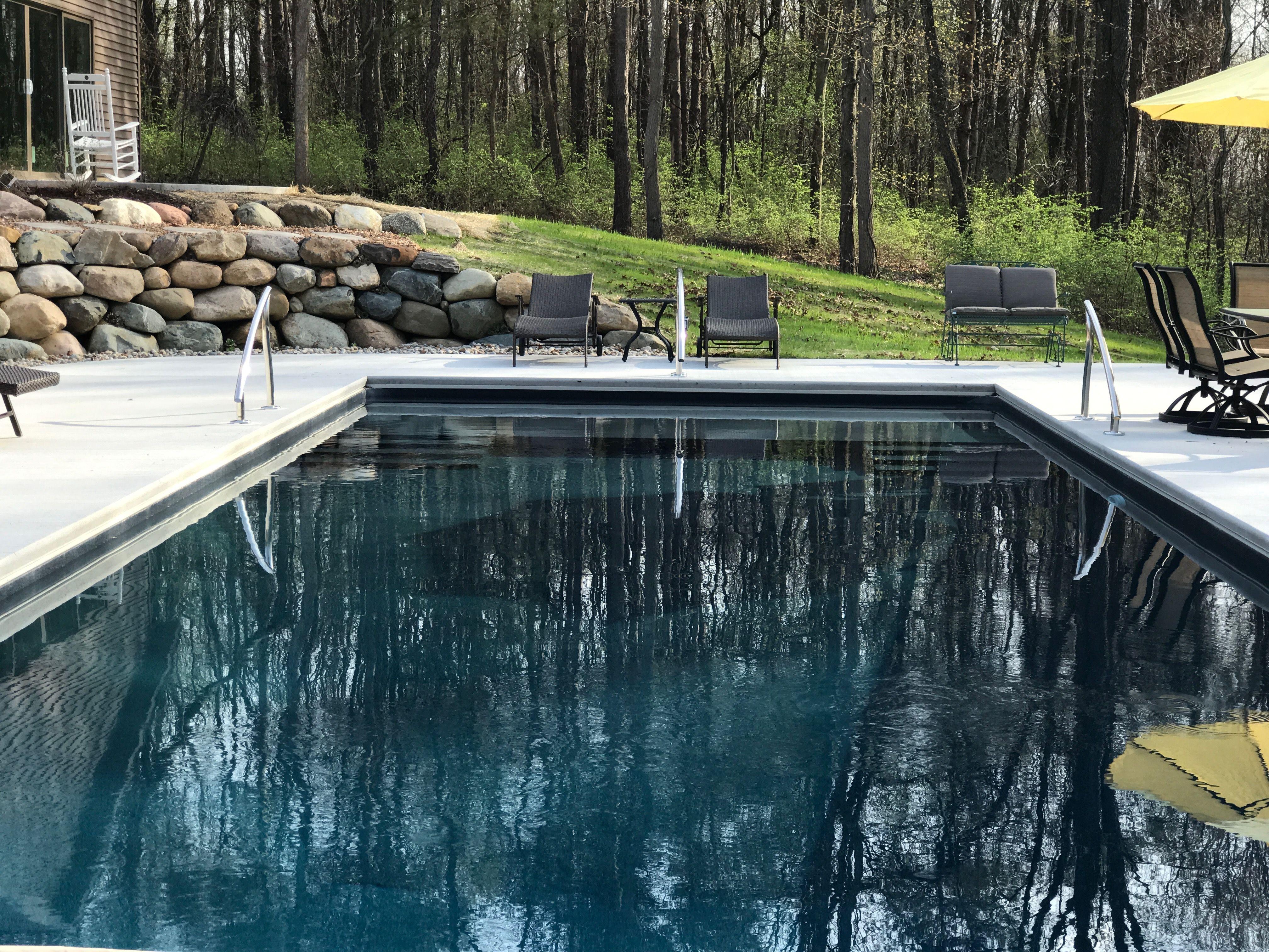 Gli Black Onyx Liner Swimming Pools Backyard Backyard Pool