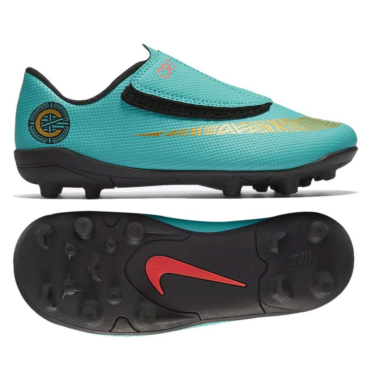 Korki Pilka Nozna Sport Nike Buty Pilkarskie Nike Mercurial Vapor 12 Club Ps V Cr7 Mg Jr Aj3096 390 Kids Football Shoes Football Shoes Shoes
