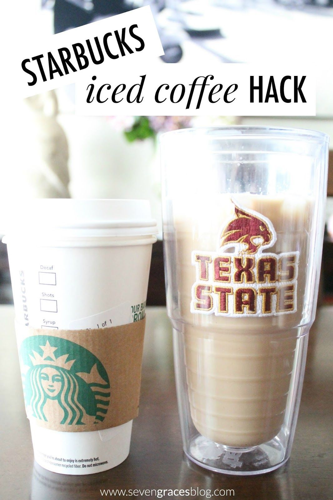 The best and easiest Starbucks Iced Coffee Hack. 4 iced