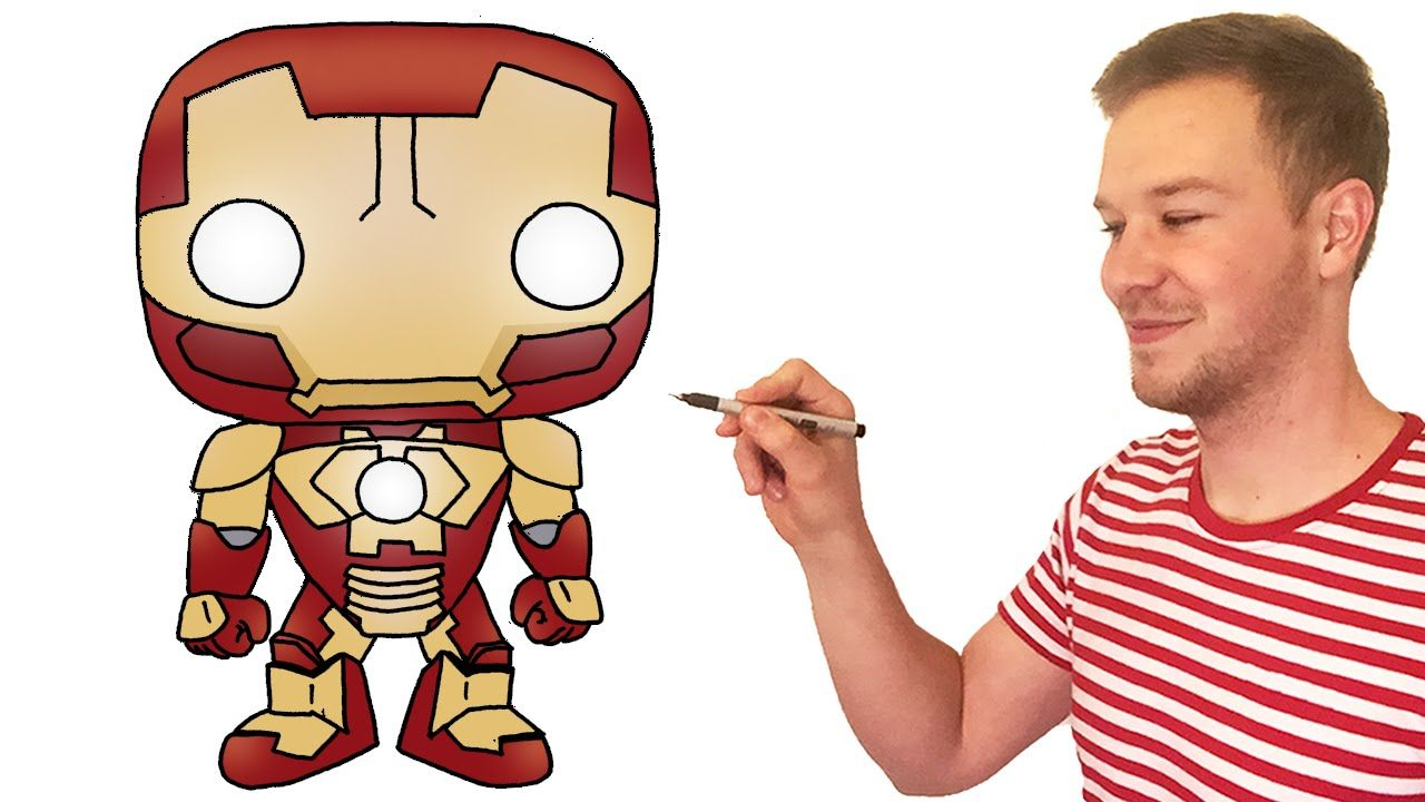 How To Draw Chibi Iron Man Cute Kids Art Lesson How To Draw Chibi