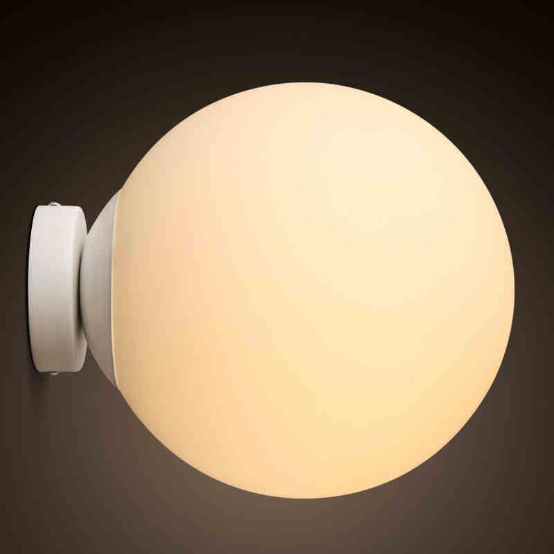 Kc北欧led玻璃圆球防潮浴室壁灯阳台走廊过道门厅厕所卫生间灯饰 Tmall
