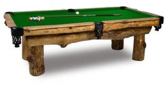 Ponderosa Pool Table  Blending nature with family fun, this solid pine table is sure to be a conversation piece in any home. This Ponderosa pool table will bring a touch of the outdoors to your indoor game room.
