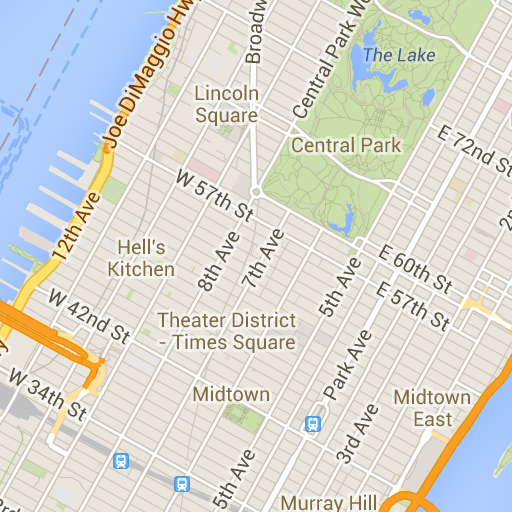 Interactive New York map with attractions