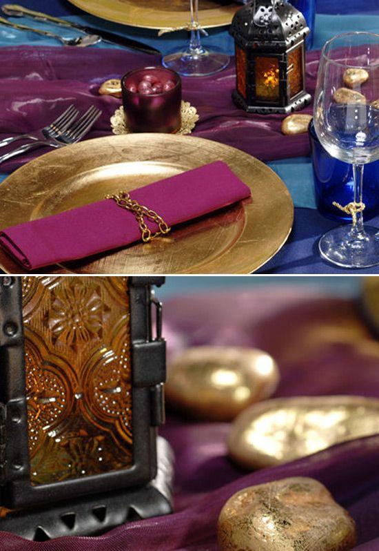 Princess Jasmine/Arabian Birthday Party Table Settings   Moroccan ...