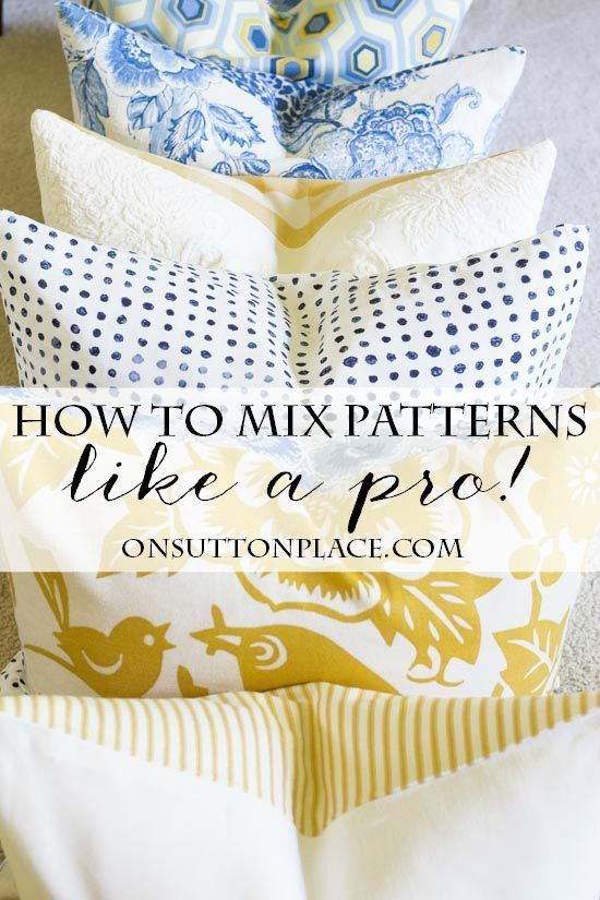 How to's : 5 Tips for Mixing Fabric Patterns | Tips and tricks from a DIY decorator that are super easy. Get the look you see in magazines all on your own!