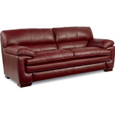 La Z Boy Dexter Leather Sofa Upholstery Rouge