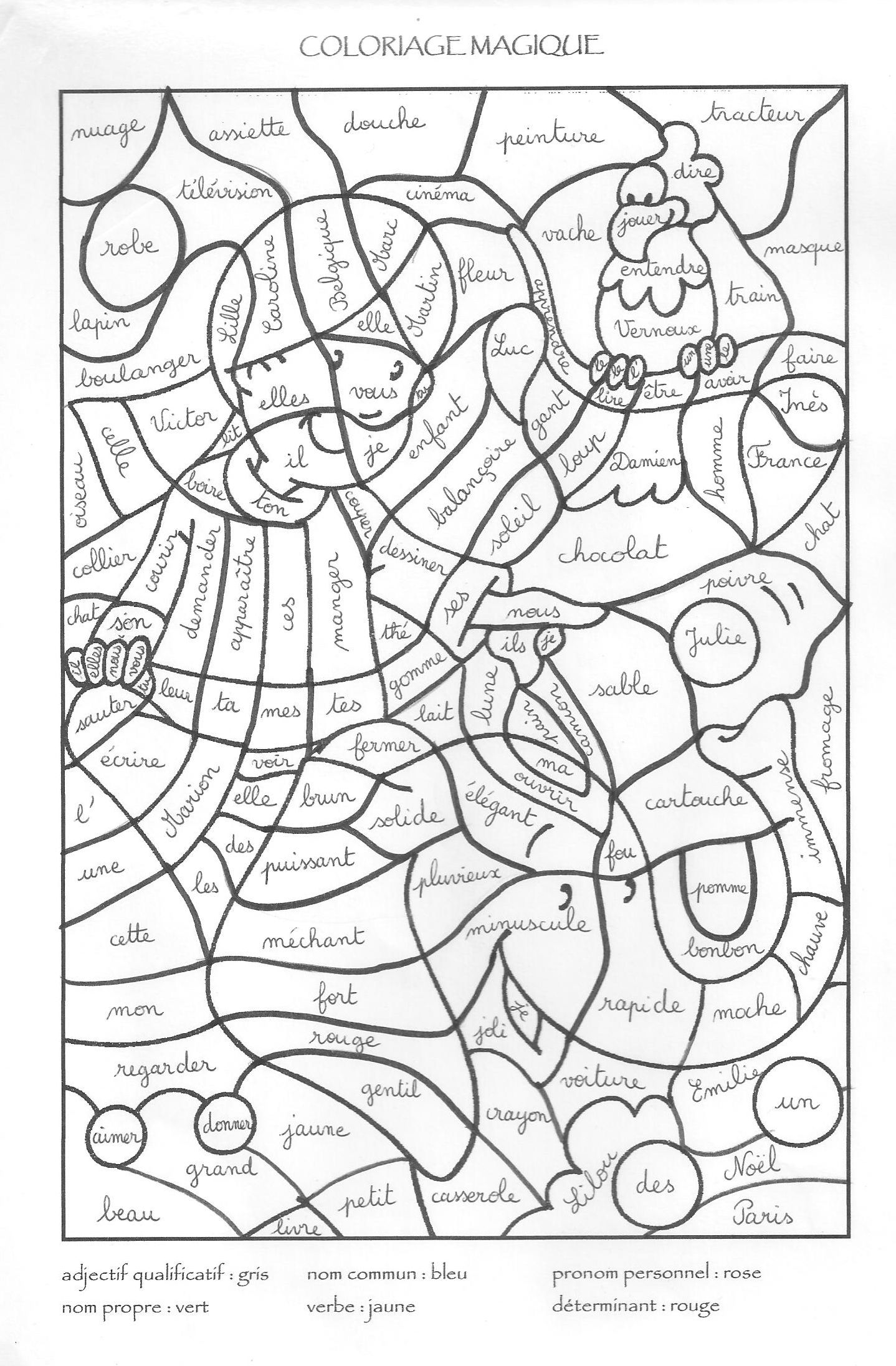 Coloriage coloriage magique 2 ecole pinterest for Apprendre ses tables de multiplication en jouant