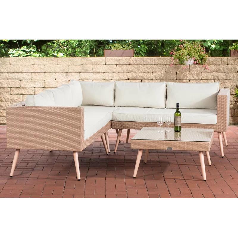 5 Sitzer Lounge Set Ilford Aus Polyrattan Mit Polster Polyrattan Polyrattan Gartenmobel Gartenmobel