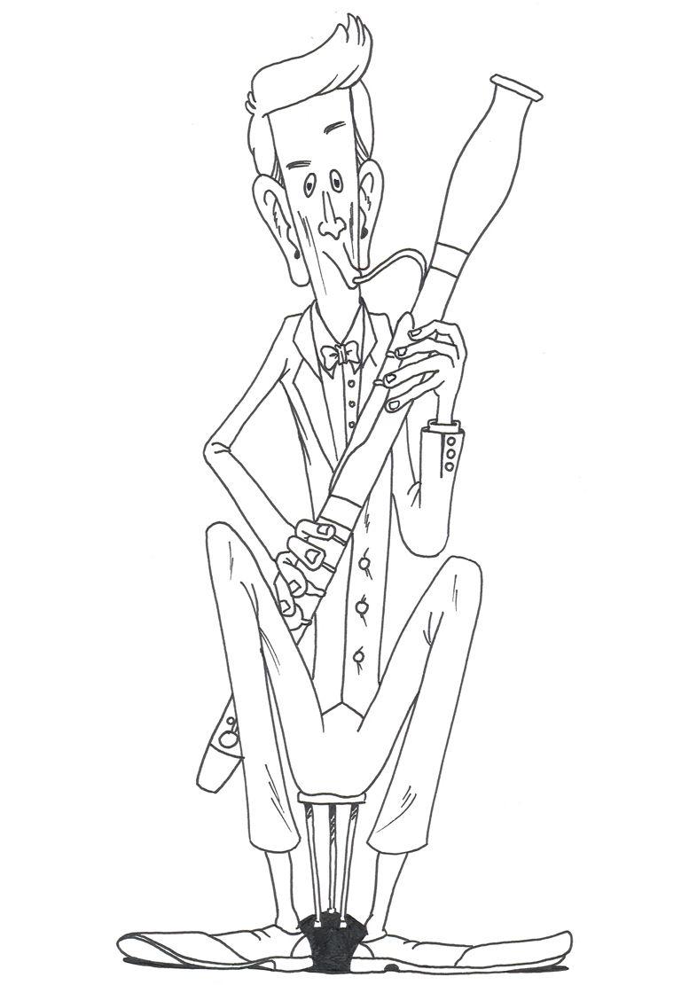 Kleurplaten Bassoons Peace Gesture Peace