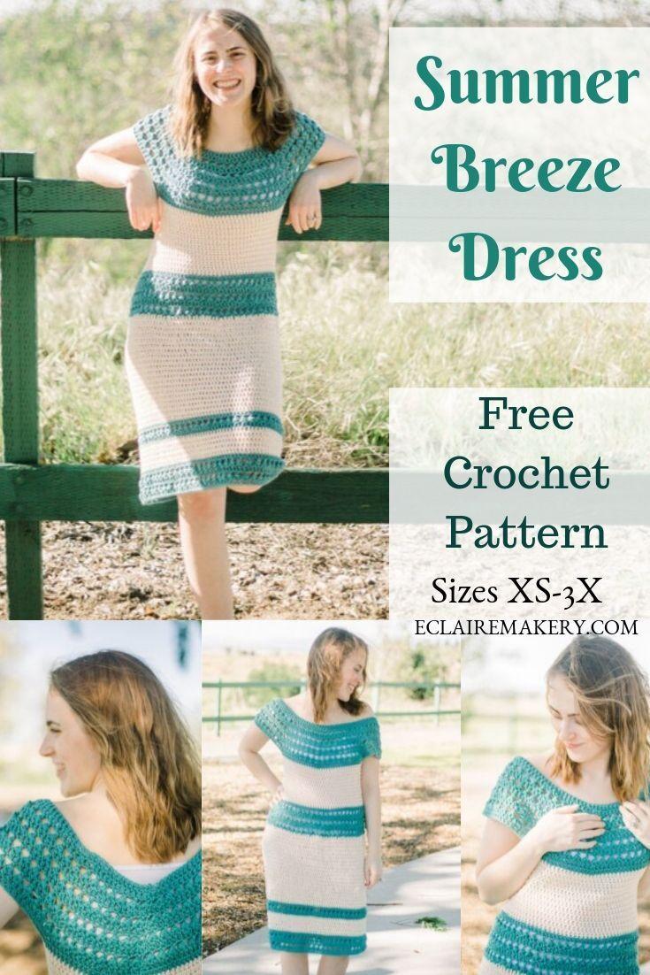 How to Crochet the Summer Breeze Dress #crochetdress
